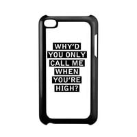 Personalised AM song lyrics iPod Touch 4 Case