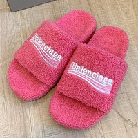 Balenciaga Autumn and winter wool slippers shoes 1