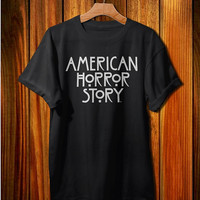 american horror story shirt american horror story logo t-shirt black and white color tshirt clothing unisex adult