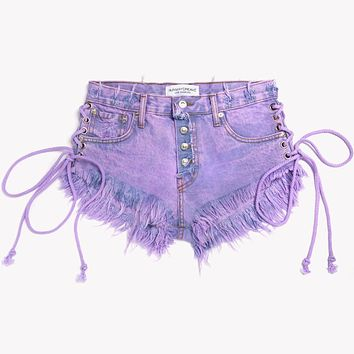 Lace Up Wildest Venus Babe Shorts