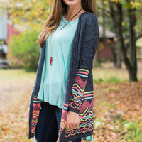 Far Out Cardigan, Charcoal
