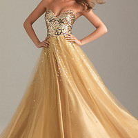 Sequin Ball Gowns, Night Moves Sequin Dress for Prom- PromGirl
