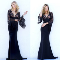 Wedding Dress Winter High Quality Ball Gown Lace Batwing Sleeve Prom Dress [9143585668]