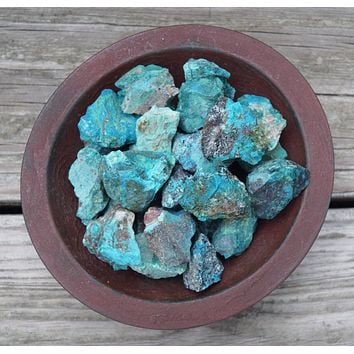 CHRYSOCOLLA raw crystal - Turquoise Blue Green Chrysocolla - Throat Chakra & Communication