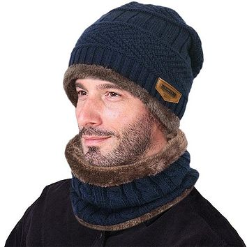 VBIGER Men's Winter Knitted Wool Cap & Infinity Scarf