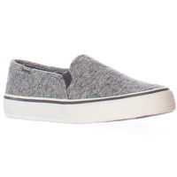 Keds Double Decker Quilted Slip On Sneakers - Charcoal