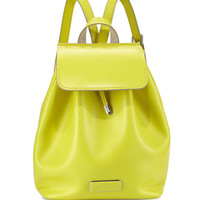 Ligero Leather Flap-Top Backpack, Yellow Zest - MARC by Marc Jacobs