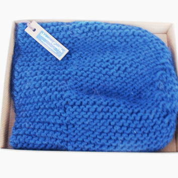 Beret style slouch hat navy blue slouchy beanies hats women knitted irish handknit