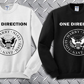 One Direction , 1 Direction Ramones Logo Custom Crewneck Sweatshirt for Unisex adult made by USA