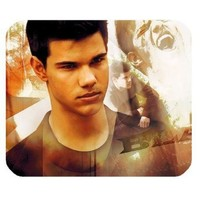 Custom Taylor Lautner Rectangular Mouse Pad - Custom Your Own MP-361