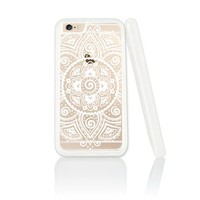 Supertrampshop - White Mandala - Cover Iphone 6 Plus Full Protection Durable Plastic Phone Case
