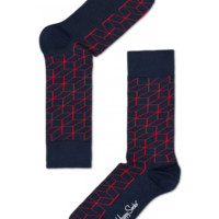Red optic graphic cool socks for happy people at HappySocks.com