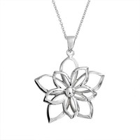 Bling Jewelry Open Floral Pendant