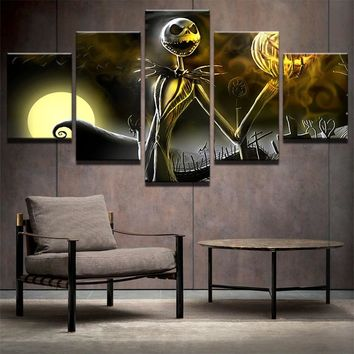 Canvas Wall Art Nightmare Before Christmas Painting