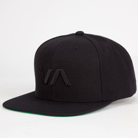 Rvca Va Mens Snapback Ii Hat Black/Black One Size For Men 25476517801