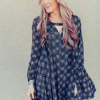 Floral Swing Tunic Blouse