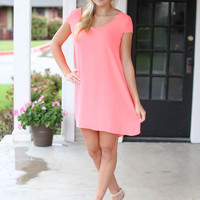 Out on the Town Dress - Neon Pink