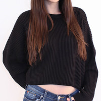 Ribbed Cropped Sweater