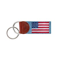 American Flag Key Fob in Light Blue by Smathers & Branson