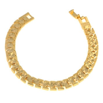 Dear Deer Gold Plated Elegant Octagon Link Bracelet