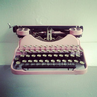 Apricot Pink Vintage Typewriter For Weddings - On Hold for Etsy Wedding Fair