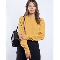 Bella Basic Cropped Sweatshirt