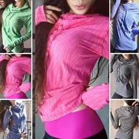Women's Activewear Hooded Multi Color Sweater