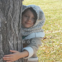 White Super Soft Chunky Bear Cowl. Size Child. FREE SHIPPING from Love & a Cupcake