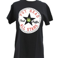 Pot Head All Stars funny weed pot 420 dark T-shirt