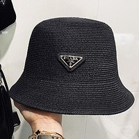 Prada New fashion couple fisherman hat cap Black