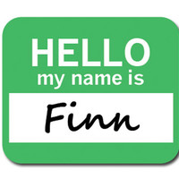 Finn Hello My Name Is Mouse Pad