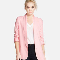 Solid Color Shawl Lapels Tailored Blazer