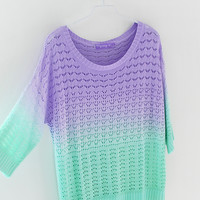 GRADIENT KNITWEAR COLORFUL SWEATER