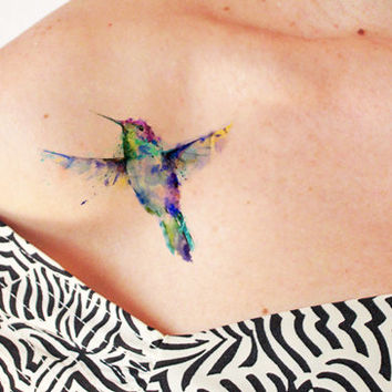 Goldfinch watercolor - Temporary tattoo