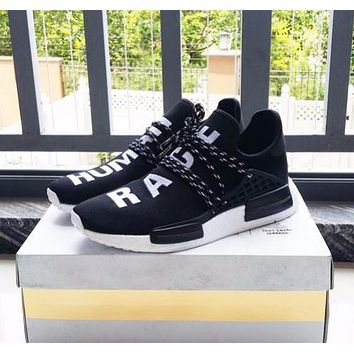 Pharrell Williams x Adidas Consortium NMD Human Race Black Sport Running Shoes Classic Casual Shoes Sneakers-1