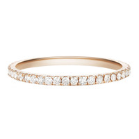 Selin Kent Rose Gold Eternity Band - Pavé Ring