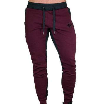 Autumn new Mens Fitness Brand Sweatpants Pant male Bodybuilding drawers Elastic band Solid color trousers Crossfit Pencil pants