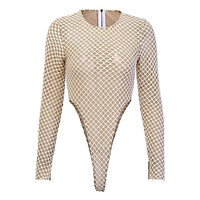 ESME Women's Fishnet Mesh Bodysuit