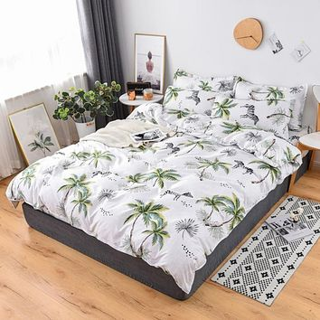 Simple Bedding Set With Pillowcase Duvet Cover Sets Bed Linen Sheet Single Double Queen King Size Quilt Covers Bedclothes