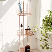 Minimal Copper Standing Bathroom Storage | Urban Outfitters
