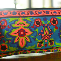 Pencil Case Zipper Pouch Small Cosmetic Bag Canvas gift for women Back to School Boho Tribal Gypsy Style
