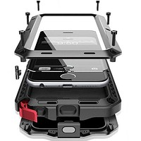 Waterproof Armor Metal Case for iPhone X, 8, 8 Plus, 7, 7 Plus and 6s Plus