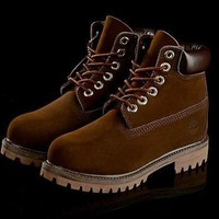 PEAP8KY Timberland Rhubarb Boots Coffee 2018 Waterproof Martin Boots