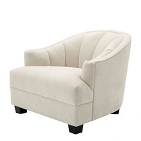 Cream Curved Back Accent Chair | Eichholtz Polaris