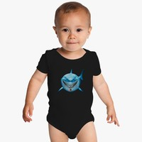 Blue Shark Attack Baby Onesuits
