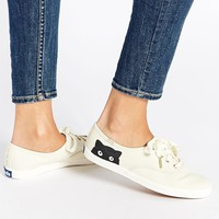 Keds Champion Taylor Swift Kitten Peek-a-Boo Plimsoll Trainers