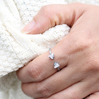Angel Fire Double Triangle Stone Ring- ONLY 1 LEFT!