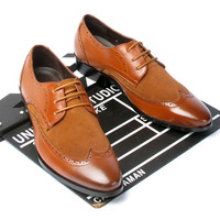 British Fashion Men's Brogues Leather Shoes