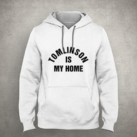Tomlinson is my home - For fangirl & fanboy - Gray/White Unisex Hoodie - HOODIE-082