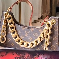 LV Retiro 2020 new thick chain women's handbag underarm bag chain shoulder messenger bag